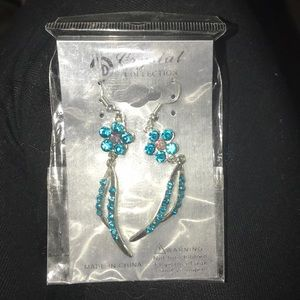 Other - Blue crystal earrings